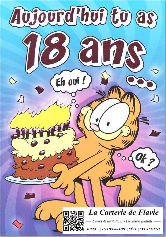 Carte anniversaire virtuelle gratuite pour 18 ans