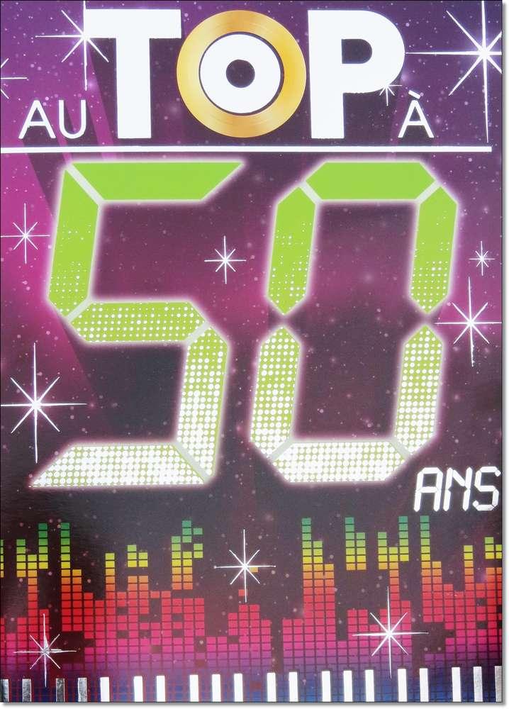 Carte anniversaire 50 ans gratuit