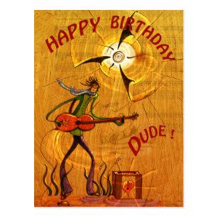 Carte anniversaire musiciens