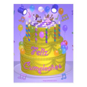 Carte joyeux anniversaire espagnol