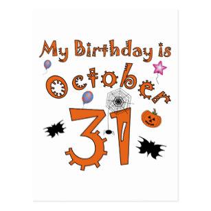 Carte anniversaire octobre