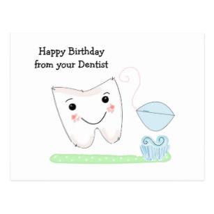 Carte anniversaire dentiste