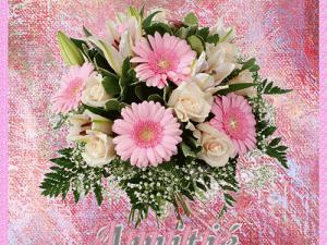 Carte anniversaire fleurs animées