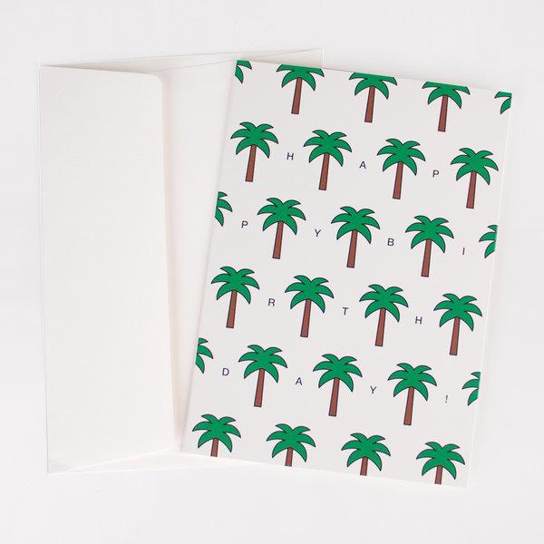 Carte anniversaire palmiers