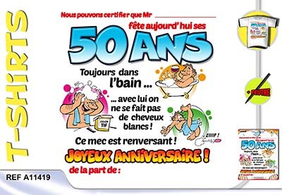 Carte anniversaire chasseur 50 ans homme