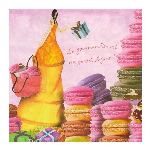 Carte anniversaire macaron