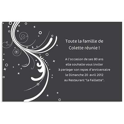 Carte invitation anniversaire restaurant