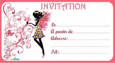 carte d invitation à imprimer Carte d'invitation gratuite pour anniversaire à imprimer
