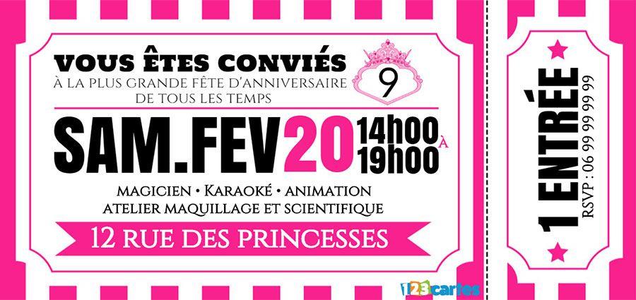 Carte D Invitation Anniversaire Personnalise Gratuit Elevagequalitetouraine