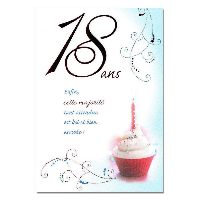 Modele de carte pour anniversaire 18 ans