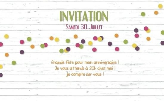 Carte invitation anniversaire virtuelle personnalisable