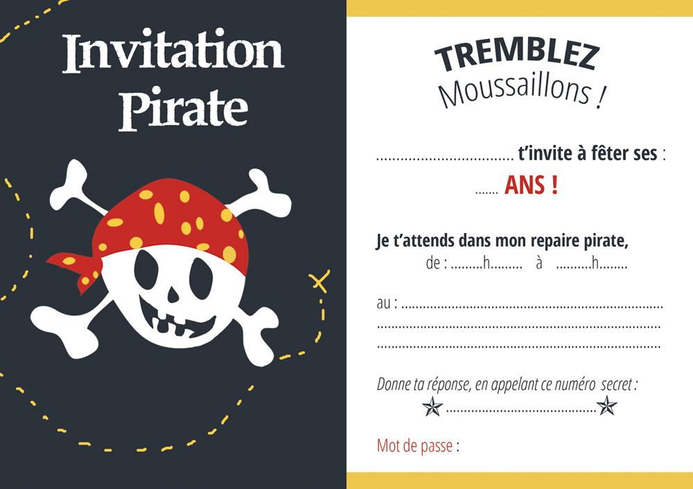 Carte d'invitation anniversaire gratuite à imprimer playmobil