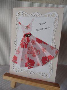 Tuto carte anniversaire robe