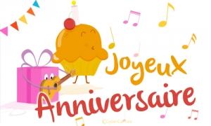 Carte anniversaire virtuelle 6 ans