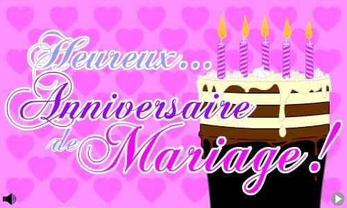 Carte anniversaire de mariage virtuelle gratuite