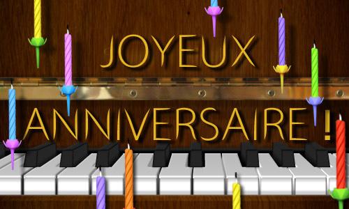 Carte joyeux anniversaire virtuelle gratuite