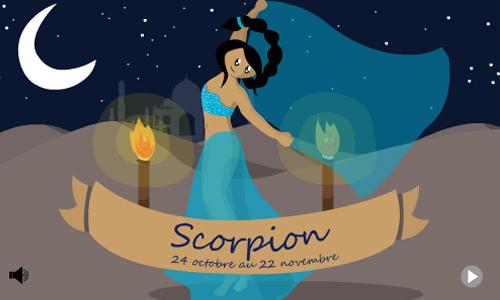 Carte joyeux anniversaire scorpion