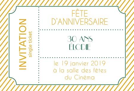 Texte d invitation anniversaire