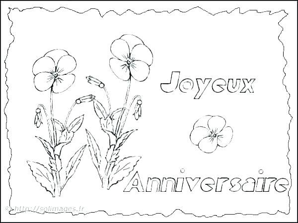 Coloriage de carte anniversaire