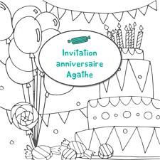 Carte anniversaire enfant à personnaliser