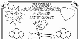 Carte Anniversaire Mamie A Colorier Elevagequalitetouraine