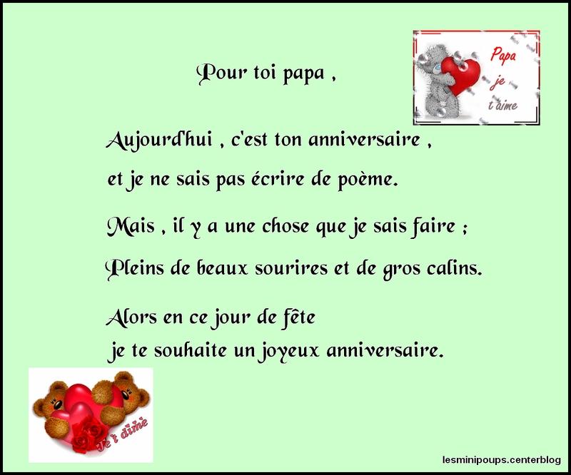 Message Bon Anniversaire Papa Elevagequalitetouraine