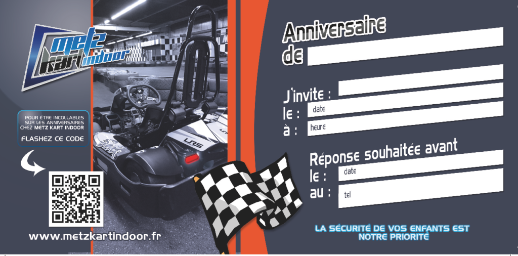 Carte anniversaire karting
