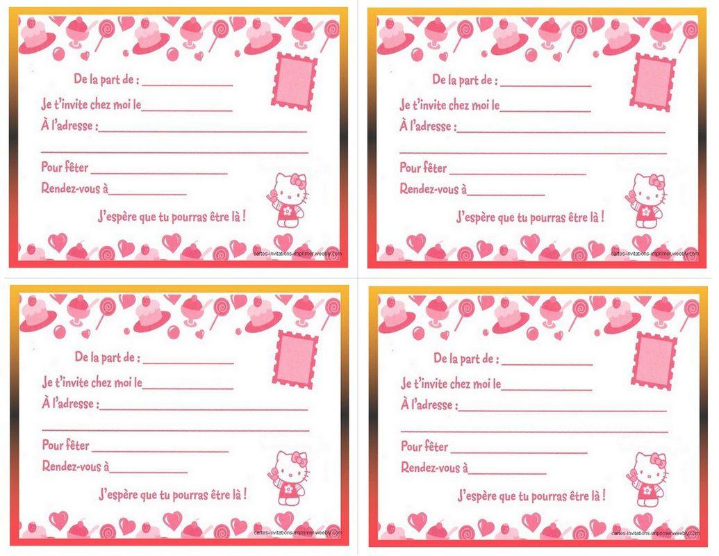 Creer Carte D Invitation Anniversaire Gratuite A Imprimer Elevagequalitetouraine