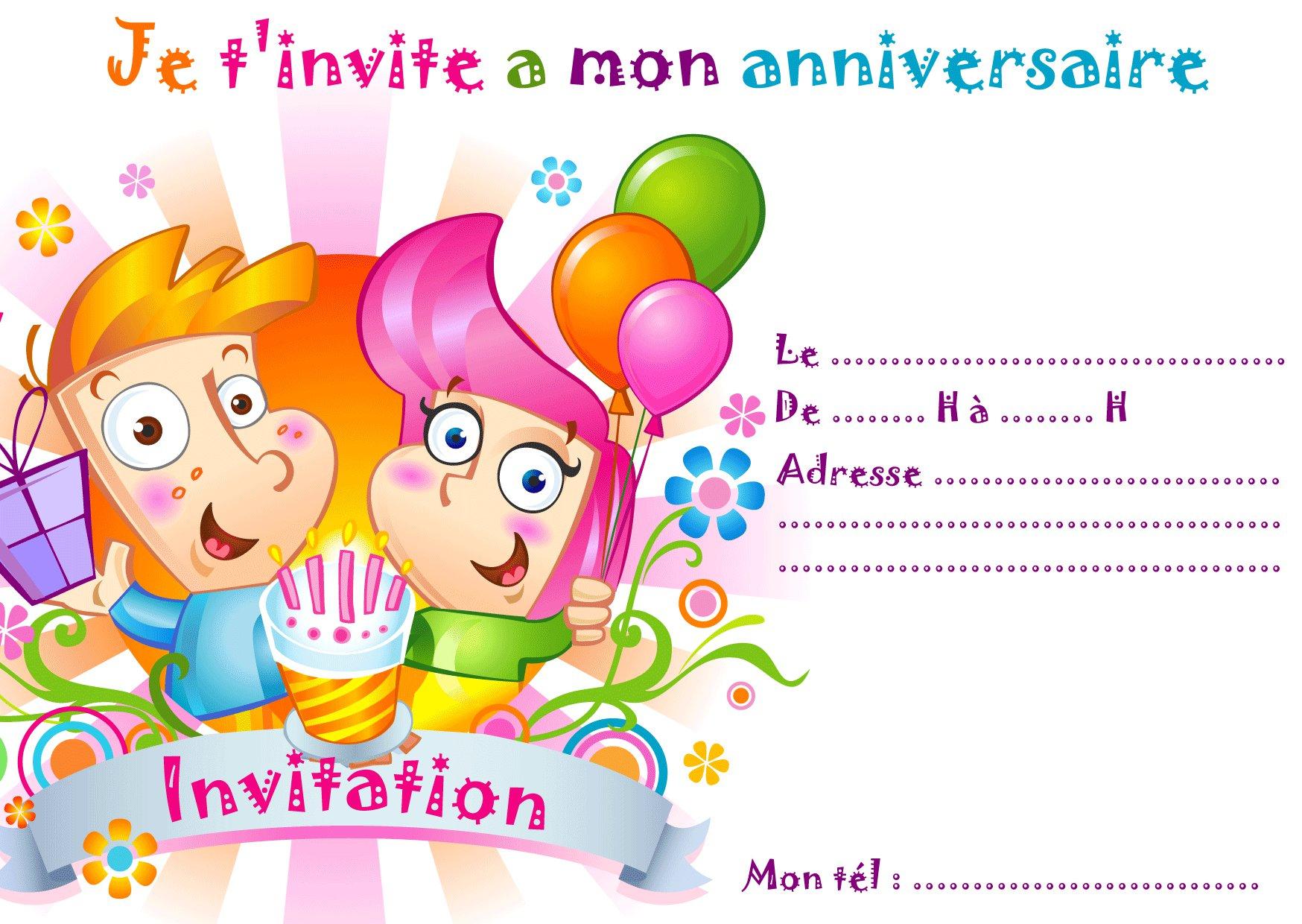 Créer son carte d'invitation anniversaire gratuit