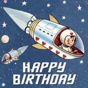 Carte anniversaire astronaute