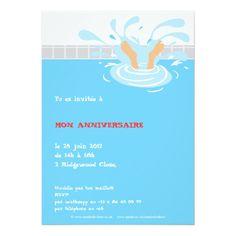 Carte anniversaire piscine imprimer