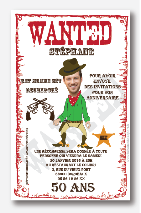 Carte anniversaire wanted