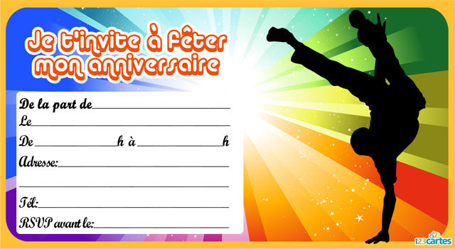 Imprimer carte invitation anniversaire