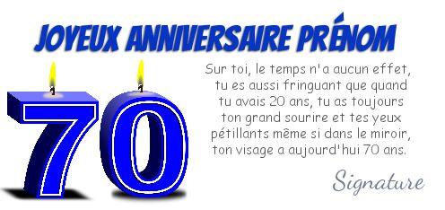 Carte anniversaire gratuite à imprimer 70 ans