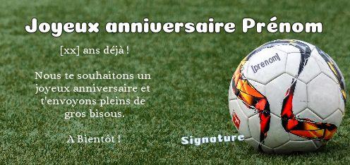 carte joyeux anniversaire foot gratuite à imprimer Carte anniversaire foot à imprimer gratuite   Elevagequalitetouraine