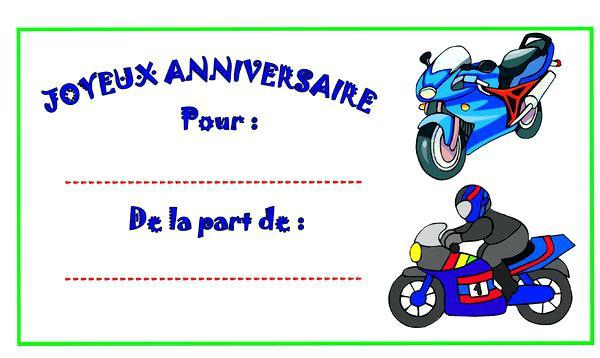 Carte anniversaire pour motard gratuite