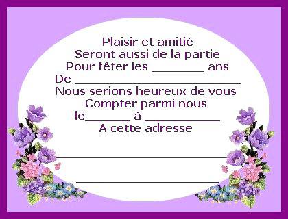 Carte Invitation Anniversaire Gratuite A Imprimer Adulte 85 Ans Elevagequalitetouraine