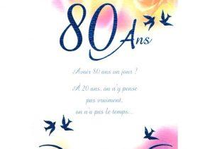 carte anniversaire 80 ans à imprimer Texte Anniversaire 80 Ans Pour Un Homme   Texte Préféré