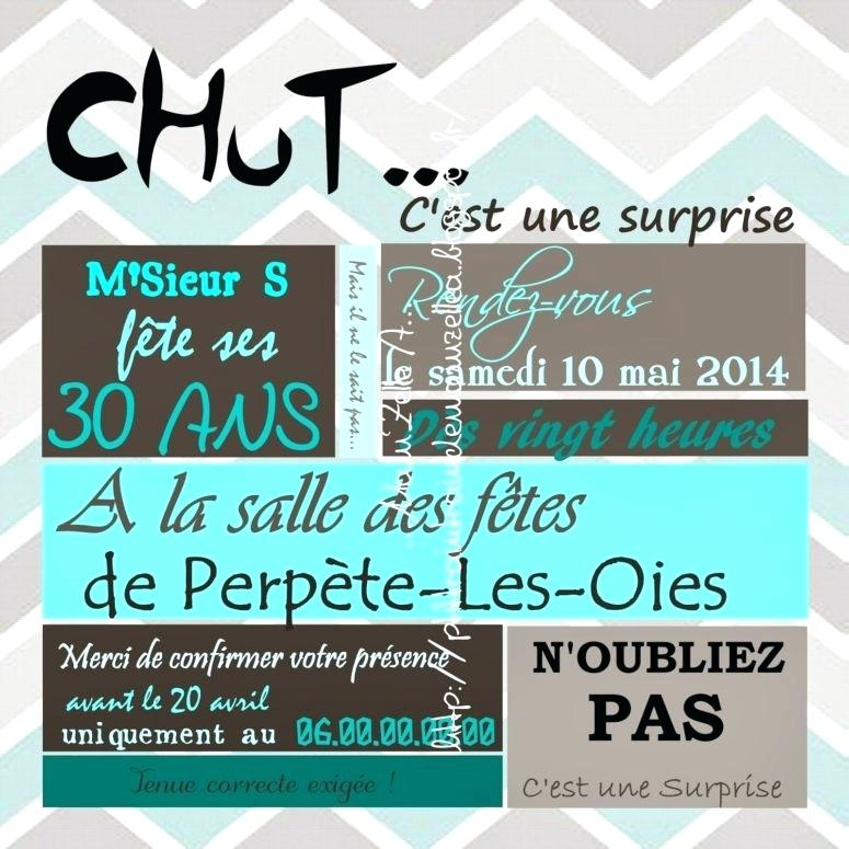 Carte invitation anniversaire surprise