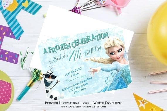 Carte invitation anniversaire olaf