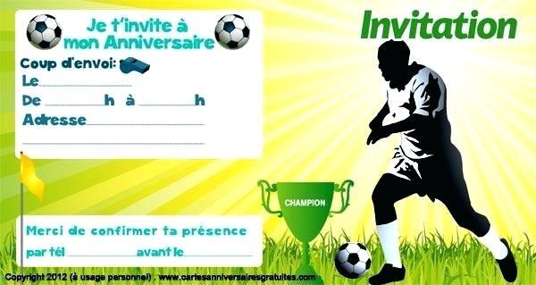 Carte invitation anniversaire foot ronaldo