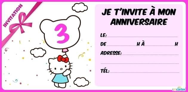 Cyber carte invitation anniversaire gratuite