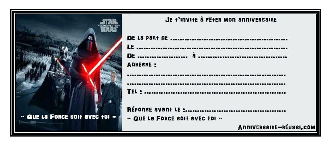 Carte Anniversaire Dark Vador A Imprimer Elevagequalitetouraine
