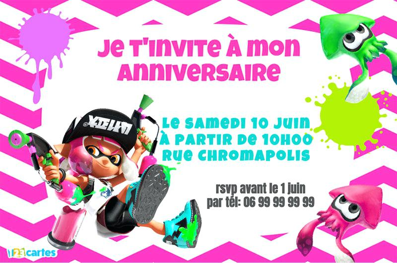 Carte d'invitation anniversaire paintball