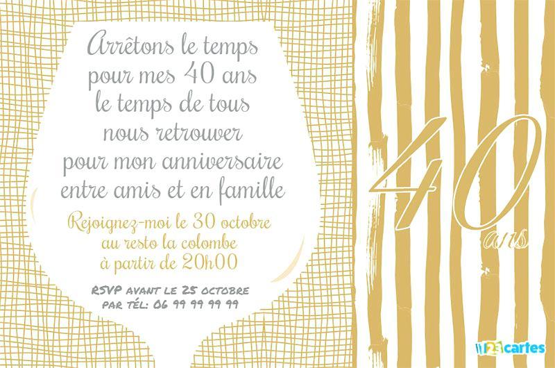 Texte invitation anniversaire noir et blanc