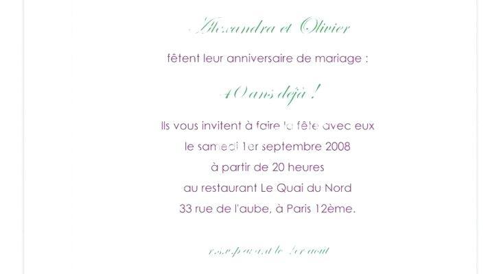 Texte invitation anniversaire 85