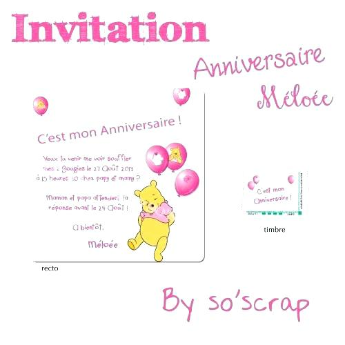 Texte original invitation anniversaire 2 ans