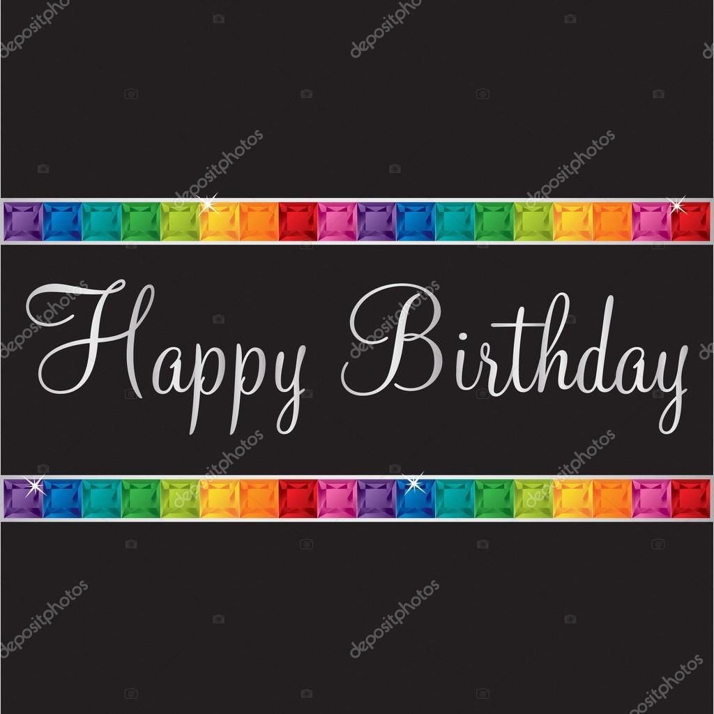 Carte anniversaire bling bling