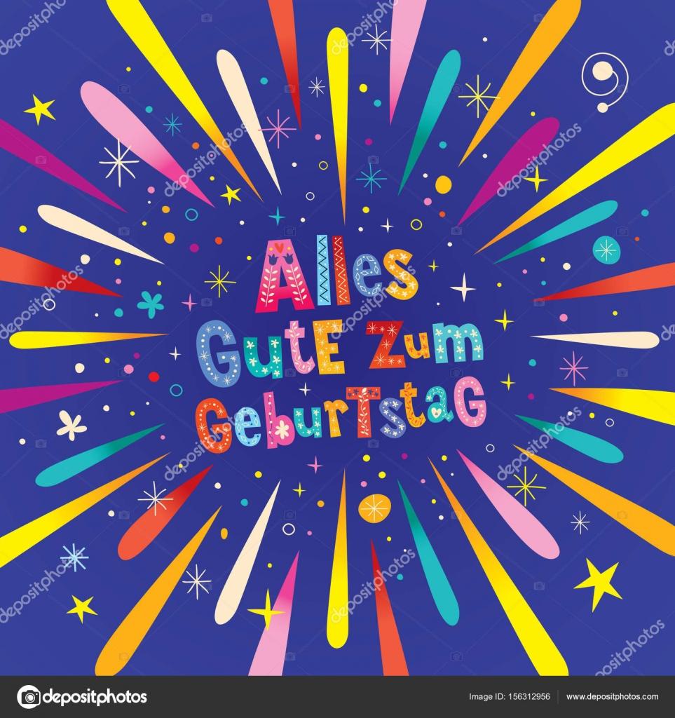 Carte anniversaire allemande