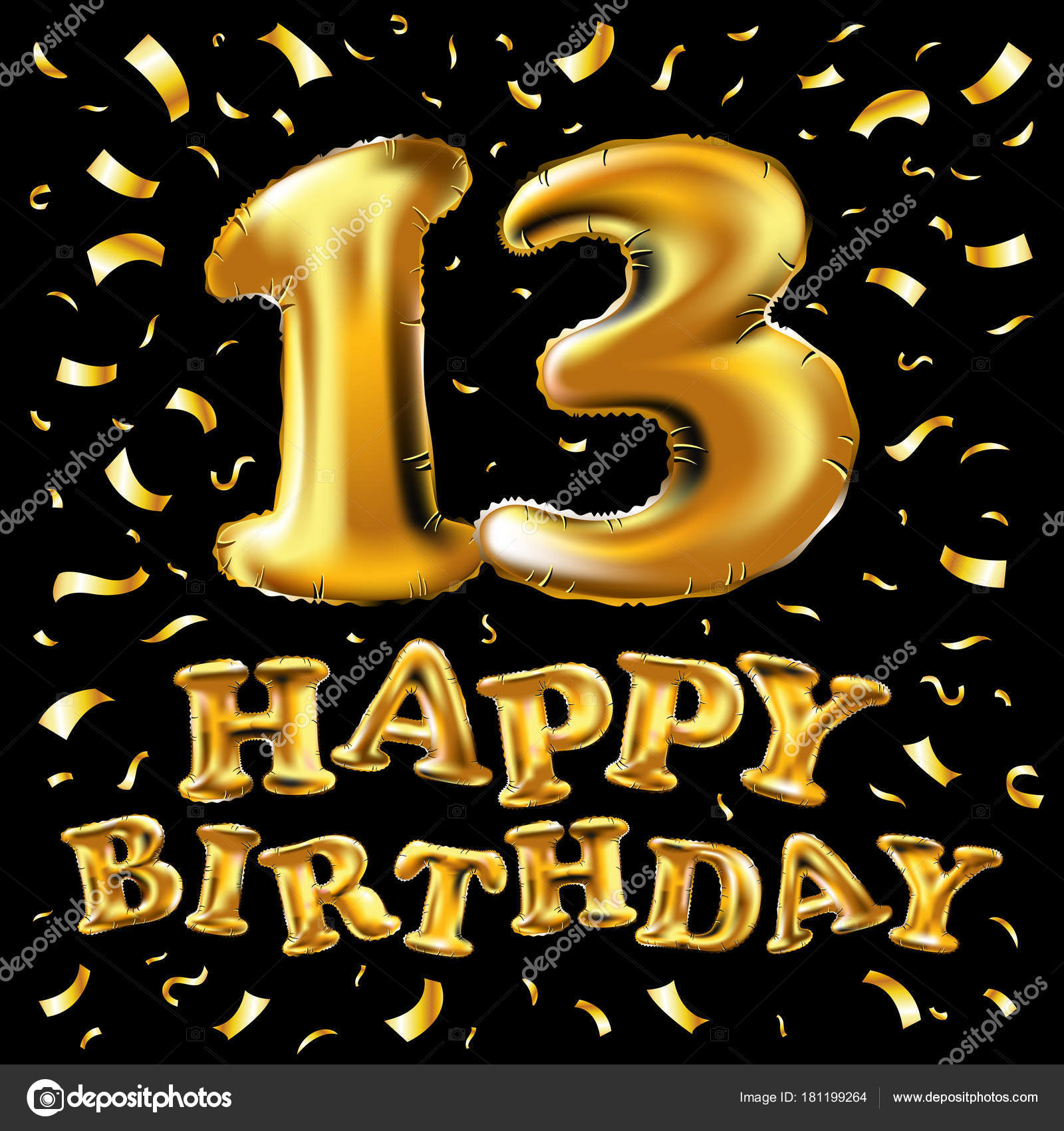 Carte 13 ans joyeux anniversaire